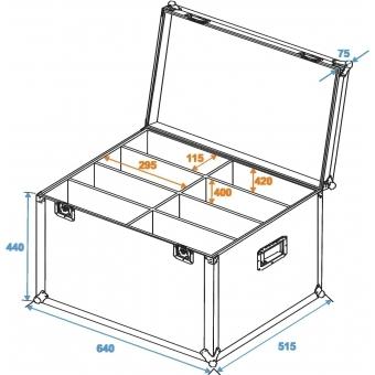 ROADINGER Flightcase 8x SLS Size L #2