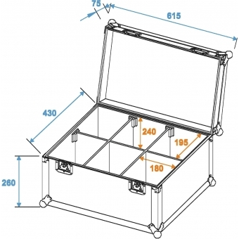 ROADINGER Flightcase 6x TMH-6/7/8/9 #2