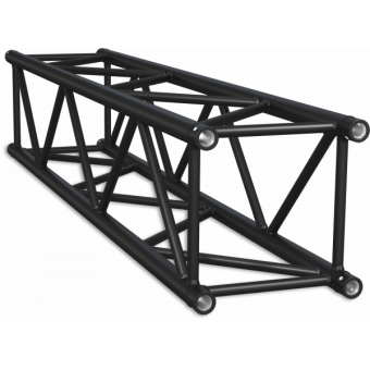 HQ40050B - Square section 40 cm Heavy Truss, extrude tube Ø50x3mm, FCQ5 included, L.50cm,BK #10
