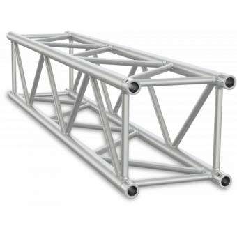 HQ40250B - Square section 40 cm HEAVYHTruss, extrude tubeØ50x3mm, FCQ5 included, L.250cm,BK