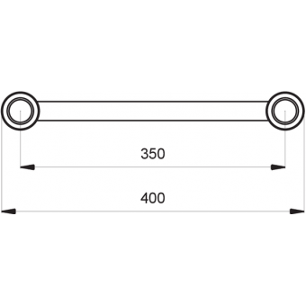 SF40050B - Flat section 40 cm truss, extrude tube Ø50x2mm, FCF5 included, L.50cm,BK #3
