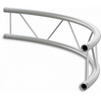SF22C200H - Flat section 22 cm circle truss, tube 35x2mm, 4x FCF3 included, D.200, Horiz.