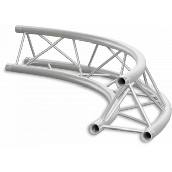 ST22C400U - Triangle section 22 cm circle truss, tube 35x2mm, 4x FCT3 included, D.400, V.Up