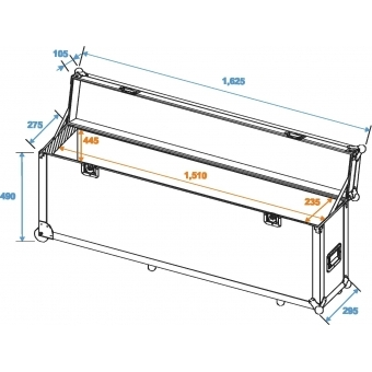 ROADINGER Flightcase Alu-Bar 1.5m 4x PAR-56 #2
