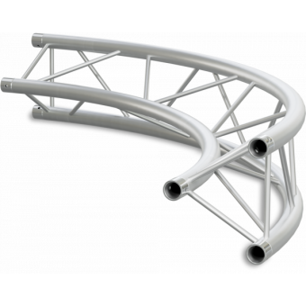 ST22C400E - Triangle section 22 cm circle truss, tube 35x2mm, 4x FCT3 included, D.400, V.Ext #7