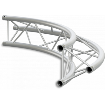 ST22C400E - Triangle section 22 cm circle truss, tube 35x2mm, 4x FCT3 included, D.400, V.Ext #10