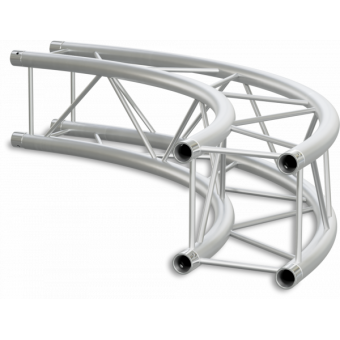 SQ22C300 - Square section 22 cm circle truss, tube 35x2mm, 4x FCQ3 included, D.300,