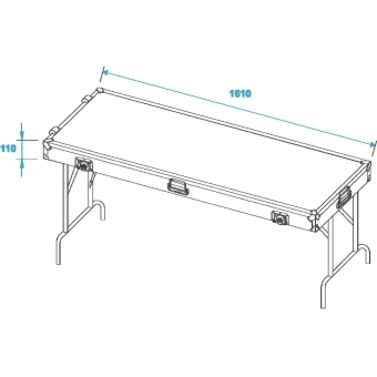 ROADINGER 2 Desks in Case Design 162x62cm #2