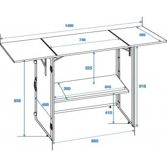 ROADINGER DJ Desk foldable 148x51cm #2