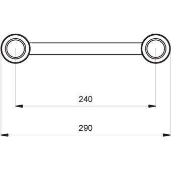 SF30C400HB - Flat section 29 cm circle truss, tube 50x2mm,4x FCF5 included,D.400cm,Horiz.,BK #5