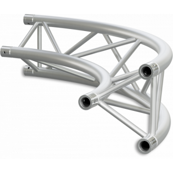 ST30C600EB - Triangle section 29 cm circle truss, tube 50x2mm,4x FCT5 included,D.600,V.Ext,BK #20