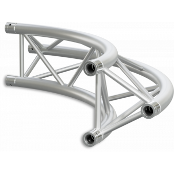 ST30C600EB - Triangle section 29 cm circle truss, tube 50x2mm,4x FCT5 included,D.600,V.Ext,BK #24