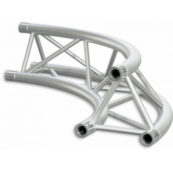 ST30C600EB - Triangle section 29 cm circle truss, tube 50x2mm,4x FCT5 included,D.600,V.Ext,BK