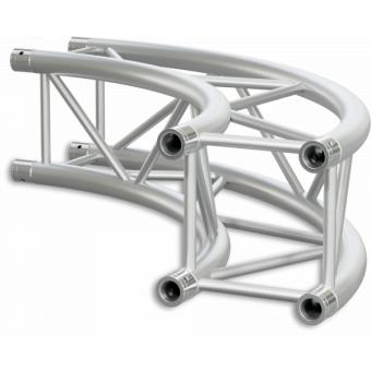 SQ30C600B - Square section 29 cm circle truss, tube 50x2mm, 4x FCQ5 included, D.600cm,BK