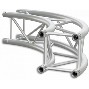 HQ30C300 - Square section 29 cm circle HEAVY truss, tube 50x3mm, 4x FCQ5 included, D.300cm