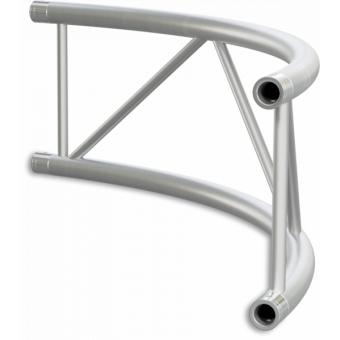 SF40C300HB - Flat section 40 cm circle truss, tube 50x2mm, 4x FCF5 included, D.300,Horiz.,BK #8