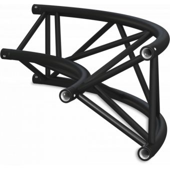 ST40C300UB - Triangle section 40 cm circle truss, tube 50x2mm, 4x FCT5 included,D.300,V.Up,BK #4