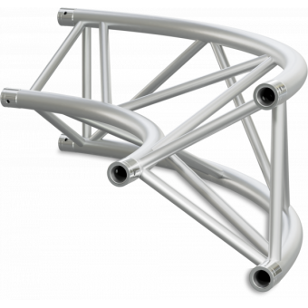 ST40C600UB - Triangle section 40 cm circle truss, tube 50x2mm, 4x FCT5 included,D.600,V.Up,BK #14