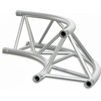 ST40C600UB - Triangle section 40 cm circle truss, tube 50x2mm, 4x FCT5 included,D.600,V.Up,BK