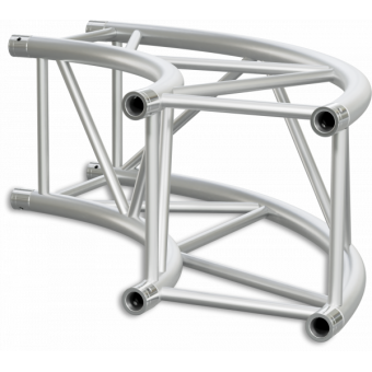 HQ40C600B - Square section 40 cm circle HEAVY truss, tube 50x3mm, 4x FCQ5 included, D.600,BK
