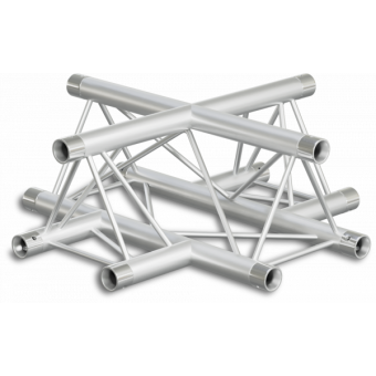 ST22X4LD - 4-way X joint for ST22 Series, tube 35x2mm, 2x FCT3 included, Left, V.Down