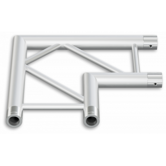 SF30L2120H - 2-way corner for SF30 Series, extrude tube 50x2mm, FCF5 included, 120°, Horiz. #9