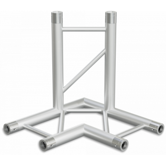 SF30L3H - 3-way L corner for SF30 Series, extrude tube 50x2mm, 2x FCF5 included, Horiz. #3