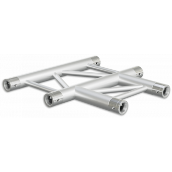 SF30T3HB - 3-way T joint for SF30 Series, extrude tube 50x2mm, 2x FCF5 included, Horiz., BK #3