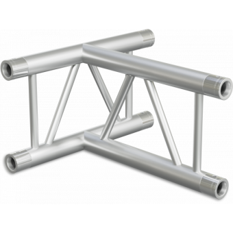 SF30T3HB - 3-way T joint for SF30 Series, extrude tube 50x2mm, 2x FCF5 included, Horiz., BK
