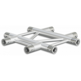 SF30X4HB - 4-way X joint for SF30 Series, extrude tube 50x2mm,2x FCF5 included,Horiz.,BK