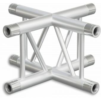 SF30X4VB - 4-way X joint for SF30 Series, extrude tube 50x2mm,2x FCF5 included,Vert.,BK #3