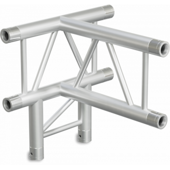 SF30T4VB - 4-way T joint for SF30 Series, extrude tube 50x2mm,2x FCF5 included,Vert.,BK #3