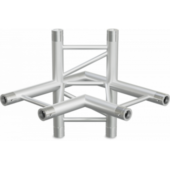 SF30L4090H - 4-way L joinL for SF30 Series, extrude tube 50x2mm, 2x FCF5 included, Horiz.