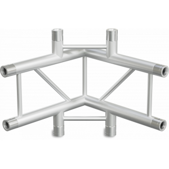 SF30L4090V - 4-way L joinL for SF30 Series, extrude tube 50x2mm, 2x FCF5 included, Vert. #3
