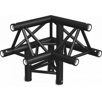 ST30L3RUB - 3-way L corner for ST30 Series, tube 50x2mm, 2x FCT5 included, Right, V.Up,BK #4