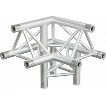 ST30L3RUB - 3-way L corner for ST30 Series, tube 50x2mm, 2x FCT5 included, Right, V.Up,BK #7