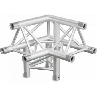 ST30L3RDB - 3-way L corner for ST30 Series, tube 50x2mm, 2x FCT5 included, Right, V.Down,BK #3
