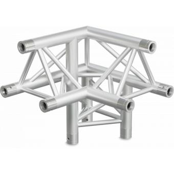 ST30L3LDB - 3-way L corner for ST30 Series, tube 50x2mm, 2x FCT5 included, Left, V.Down,BK #7