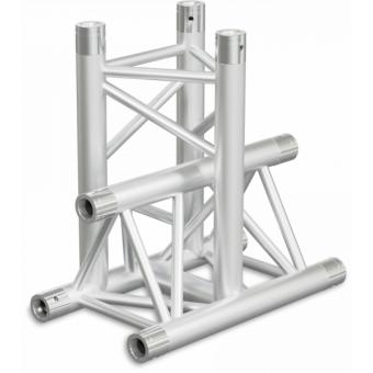 ST30T3LDB - 3-way T joint for ST30 Series, tube 50x2mm, 2x FCT5 included, Left, V.Down,BK #3