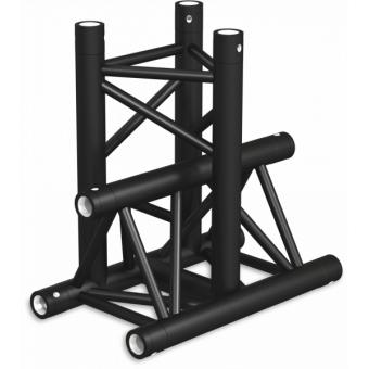 ST30T3LDB - 3-way T joint for ST30 Series, tube 50x2mm, 2x FCT5 included, Left, V.Down,BK #4