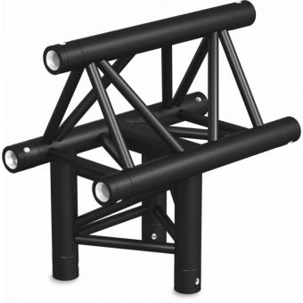 ST30T3LDB - 3-way T joint for ST30 Series, tube 50x2mm, 2x FCT5 included, Left, V.Down,BK #8