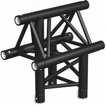 ST30T3LDB - 3-way T joint for ST30 Series, tube 50x2mm, 2x FCT5 included, Left, V.Down,BK #10