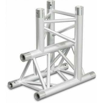 ST30T3LDB - 3-way T joint for ST30 Series, tube 50x2mm, 2x FCT5 included, Left, V.Down,BK