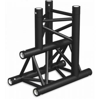 ST30T3DB - 3-way T joint for ST30 Series, tube 50x2mm, 2x FCT5 included, V.Down,BK #2