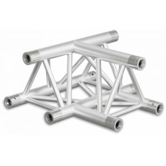 ST30T3DB - 3-way T joint for ST30 Series, tube 50x2mm, 2x FCT5 included, V.Down,BK #5