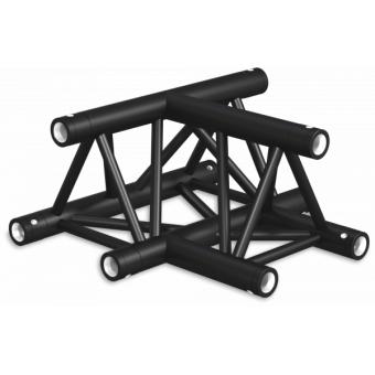 ST30T3DB - 3-way T joint for ST30 Series, tube 50x2mm, 2x FCT5 included, V.Down,BK #7