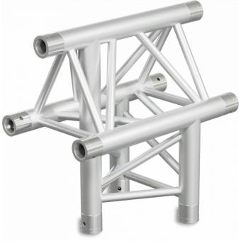 ST30T3DB - 3-way T joint for ST30 Series, tube 50x2mm, 2x FCT5 included, V.Down,BK #9