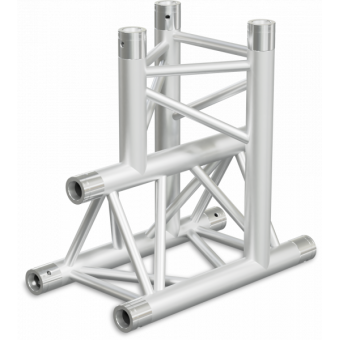 ST30T3DB - 3-way T joint for ST30 Series, tube 50x2mm, 2x FCT5 included, V.Down,BK