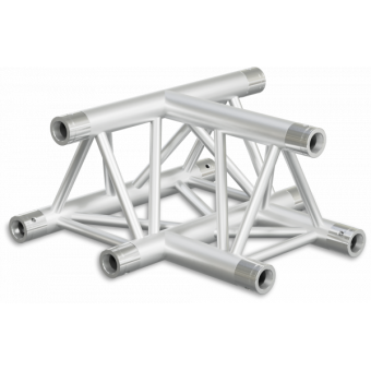 ST30T3UB - 3-way T joint for ST30 Series, tube 50x2mm, 2x FCT5 included, V.Up,BK #5