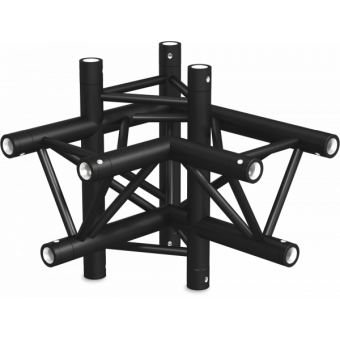 ST30X4UB - 4-way X joint for ST30 Series, tube 50x2mm, 2x FCT5 included, V.Up,BK #6